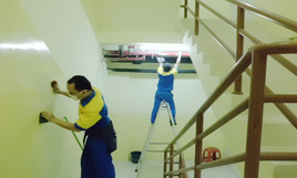 cleaning service - pembersihan tangga exit